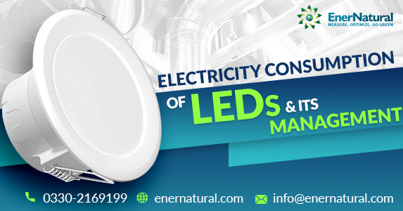 Electricity consumption of LEDs and its management